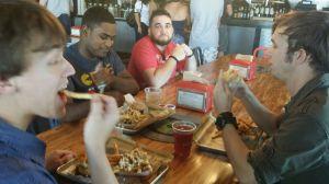 guys eating
